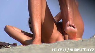 sexy nudist  spanish beach girl cameltoe big tit