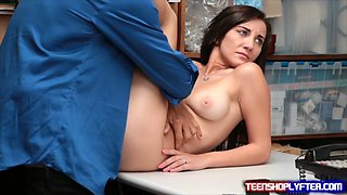 Sweet Teenie Deal Her Way Out Of Hard Time By Taking Hard Dick