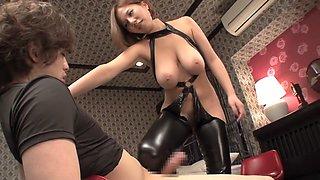 Horny Japanese whore in Crazy MILF, Latex JAV movie