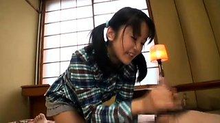 Sensual Oriental babes use their feet to dominate kinky guys
