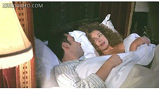Alex Kingston Helps Her Man To Dress For Bed