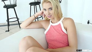 baby sister sierra swallows her bro's hot sticky load