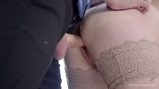 Horny wife Mona Wales and her perverted husband fuck tied up hooker