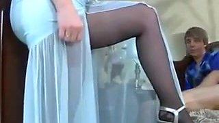 Pantyhose mamturegiving pantyhose-job