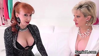 Adulterous british mature lady sonia exposes her monster bal
