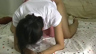 Filipina girlfriend having wild hardcore sex