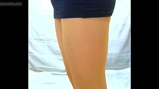 crossdresser pantyhose in black 060