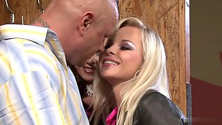 Sharka Blue and Cindy Dollar are sluts with fat pussies and big round boobs