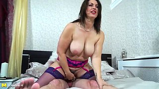Taboo sex with amazing mother and son