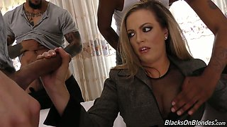 Whorish mommy Carmen Valentina is banged by several fellows of her stepson
