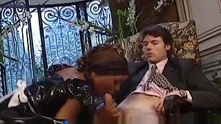 African Slut In Maid Uniform Caught In An Interracial