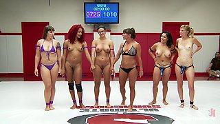 Wrestling Ladies Grab Pussy