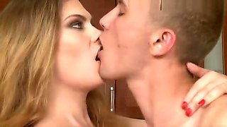 Domina strapon bisex in the kitchen Part 1