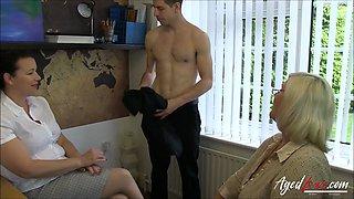 AgedLovE Two Matures Threesome Hardcore Sex