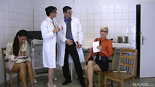Adorable senoritas getting penetrated inside the hospital