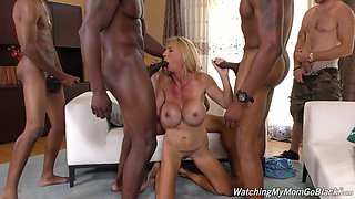 Several black studs fuck sex-hungry blond bitch Brooke Tyler