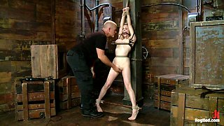 Penny Pax & Mark Davis in Innocent Penny Pax Faced Fucked By Mark Davis In Extreme Bondage - HogTied