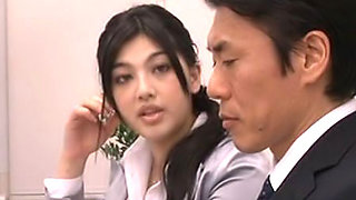 Saori Hara is a lovely Asian office worker