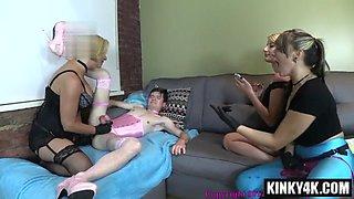 Hot mom femdom pegging and cumshot