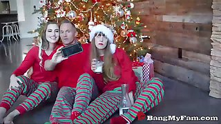 niki snow fucks her stepdaddy while mom sleeps on xmas day