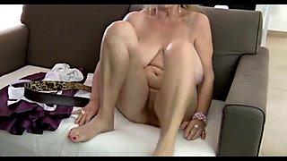 64yr old Bushy Breasty Granny Isabel Shows All Her Stuff