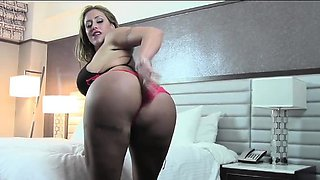 Eva Notty Red Panty Play Tease