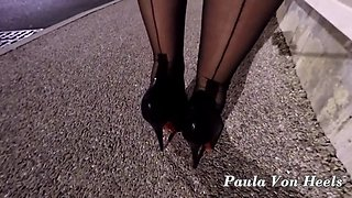 Night on my new 15cm leather pumps