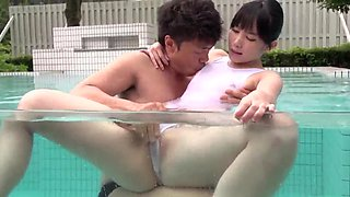 Sexy Japanese pool fuck for needy Yui Kasugano