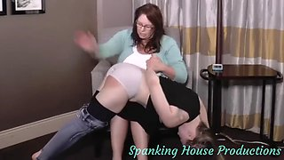 Ticket trouble spanking